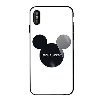0d4f545c8b iPhone ケース 強化ガラスカバー ディズニーキャラクター レトロスタンダード Mickey 保護カバーブラケット付きiPhoneミッキー