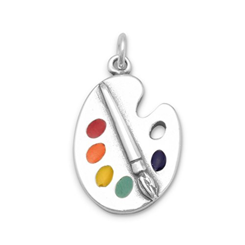 Corinna-Maria 925 Sterling Silver Multicolor Paint Palette - Sterling Art