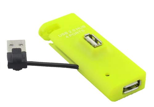 Inland 4 Port USB Hub, Green (08808)