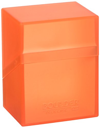 Ultimate Guard Deck Box Boulder Standard 80+ Poppy Topaz Orange Collectible Card Protection