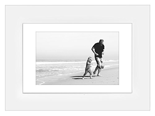 8x10-White-Picture-Frame-Matted-to-Display-Photographs-5x7-or-8x10-Without-Mat-Highest-Quality-Materials-Ready-to-Display-on-Table-Top
