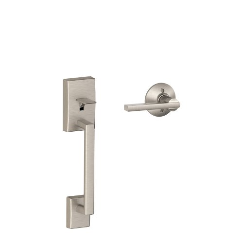 Schlage LOCK FE285 CEN 619 LAT Century Front Entry Handle Latitude Interior Lever (Satin Nickel) ()