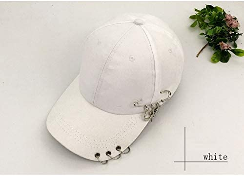 Blue Stones Solid Summer Cotton Girls Casual Baseball Caps Metal Ring Hip Hop Snapback Hats for Sport Dance Rivets Casquette Gorras