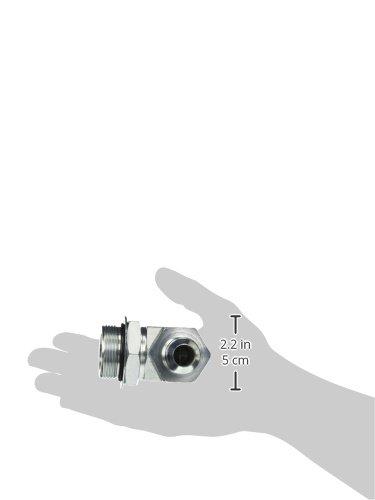 3//8 Tube OD JIC Male x 7//16-20 Male Straight Thread O-Ring Boss 90 Degree Elbow Brennan 6801-06-04-NWO-FG Forged Steel JIC Flared Tube Fitting