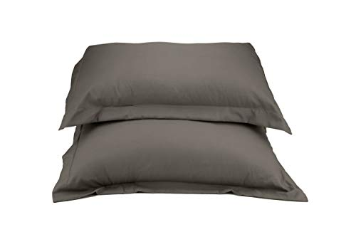 La Vie Moderne 1800 Thread Count Microfiber Queen Pillow Shams, Gray (Set of 2)