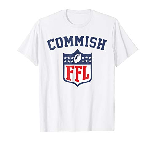 Fantasy Womens Yellow T-shirt - Commish T-shirt Fantasy Football Commissioner T-Shirt