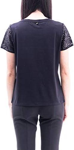 Luxury Fashion   Liu Jo Donna CA0103J5972U9978 Nero T-Shirt   Primavera Estate 20
