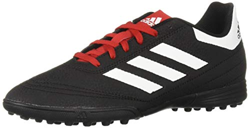 adidas Unisex Goletto VI Turf, Black/White/Scarlet, 1 M US Little Kid