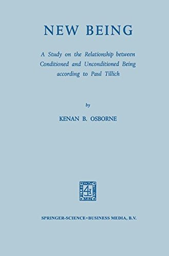 New Being: A Study on the Relationship between Conditioned and Unconditioned being According to Paul Tillich