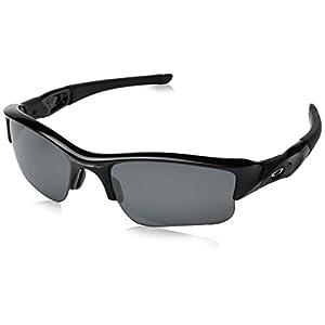 Oakley Men's Flak Jacket XLJ Sunglasses,Jet Black Frame/Black Iridium,one size