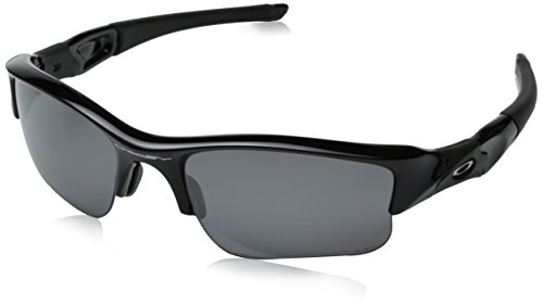Oakley 12-903 Men's Flak Jacket XLJ Jet Black Plastic Frame Black Iridium Polarized Lenses Sunglasses
