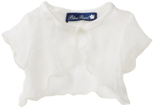 Blue Pearl Baby Girls' Sheer Cardigan with Pearl Button