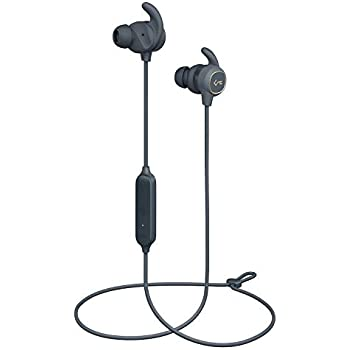 86963923d60 AUKEY Wireless Earbuds, Key Series B60 Magnet Controlled On/Off, Bluetooth  5, USB-C Charging, IPX6 Water-Resistance Sport Headphones with Deep Bass,  ...