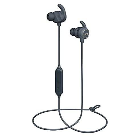 - 31RzFmoLUCL - AUKEY Wireless Earbuds, Key Series B60 Magnet Controlled On/Off, Bluetooth 5, USB-C Charging, IPX6 Water-Resistance Sport Headphones with Deep Bass, 8h Playtime for Gym, Workouts and Trail Running