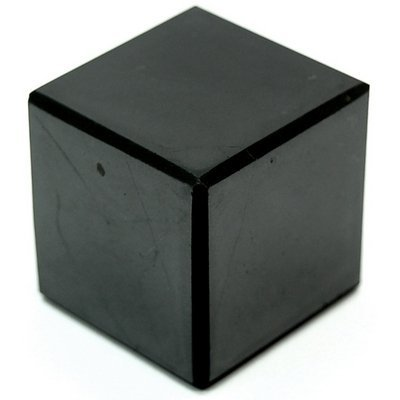 Shungite Genuine Stone Cube Polished 50x50mm from Russia