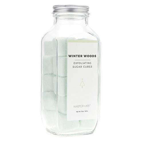 Harper + Ari Exfoliating Sugar Cubes —- Limited Edition Holiday Scrub Collection (16 oz) Winter Woods