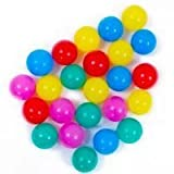 Pit Balls PLAY10 100 pcs Play Tent Balls Multi-Colored BPA-free Thicken Plastic Secure Ocean Playpen Balls