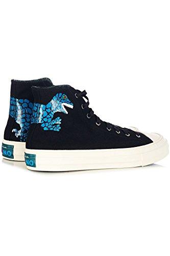 Paul Smith Mens Sneakers Alte In Cotone Nero Suxdu230cvs79