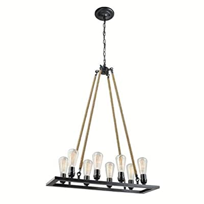 "Globe Electric 65038 8 Light 23.62"" Wide Pendant with Shade,"