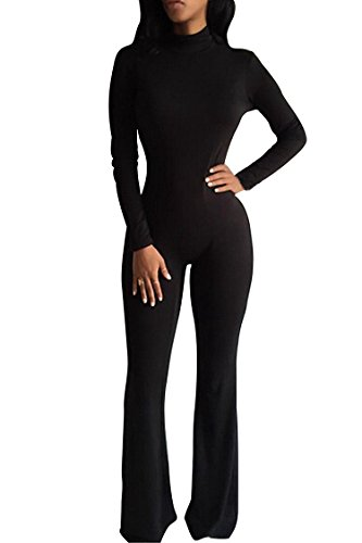 Pink Queen Women Sexy Bodycon Bodysuits Fleece Shape Wear Jumpsuit One Piece (One Piece Pant Suit)