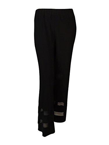 MSK Women's Jersey Wide Leg Dress Pants (3X, Black)