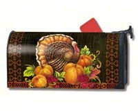 MailWraps Give Thanks Turkey Mailbox Cover 01026