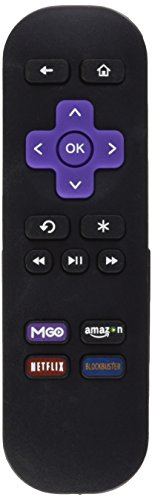 Remote Control roku 4, New Replacement IR Remote for Roku 1 LT HD Roku 2 XD XS Roku 3 Streaming Player with Shortcut Buttons MGO VUDU, Not Support ROKU Streaming Stick (HDMI or MHL) and TCL ROKU TV