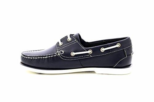 Pour Bleu en marron Homme cuir bateau Bleu Chaussures roi Mocassin TBUT8qr
