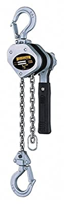 "Lever Chain Hoist, 1000 lb. Load Capacity, 15 ft. Hoist Lift, 29/32"" Hook Opening"
