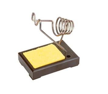 Soporte soldador con base de baquelita, depósito para agua y esponja antitérmica recambiable: Amazon.es: Electrónica