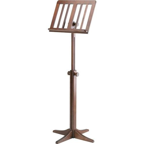 K & M 11611.000.00 116/1 Wooden Music Stand, 28.14-48.22'' Height, Walnut