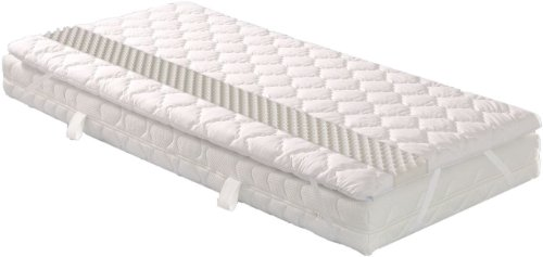 Badenia 03880540152 Bettcomfort Matratzenauflage Senso mit Noppenstruktur, ca 180 x 200 cm, weiß
