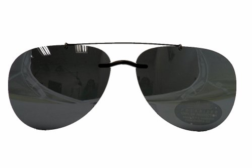 Silhouette Sunglasses Clip-On 5090 A1 Shape 0101 Polarized Gray Aviator - Silhouette Sunglasses Eyewear Clip On