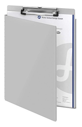 - Westcott E-17005 00 Aluminium clipboard, A4, with Protective Flap and Suspension Eyelet