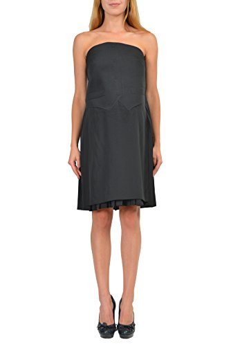 Maison Martin Margiela Black Strapless Women's Shift Dress US M IT - Maison Martin Black Margiela