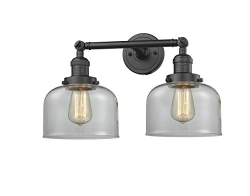 Innovations 208-OB-G72-LED 2 Light Vintage Dimmable LED Bathroom Fixture, Oil Rubbed Bronze from Innovations
