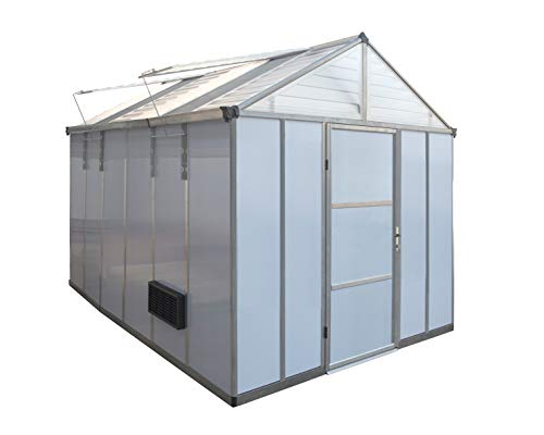 Oriana HG5312 Light Deprivation Greenhouse, 8′ x 12′ x 9′ White Opaque