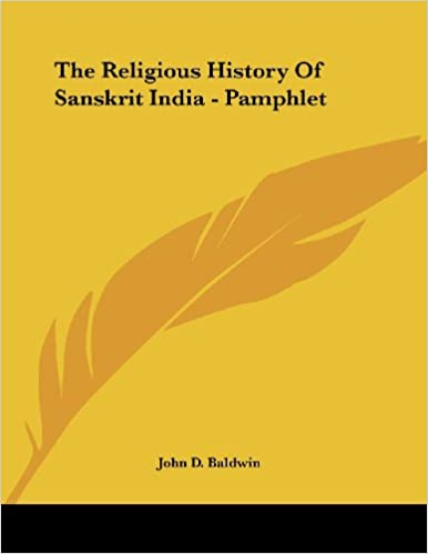 Book The Religious History of Sanskrit India - Pamphlet