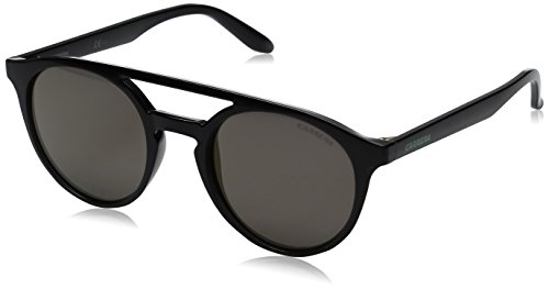 Carrera Men's Ca5037s Round Sunglasses, Dark Gray/Gunmetal Mirror, 49 mm