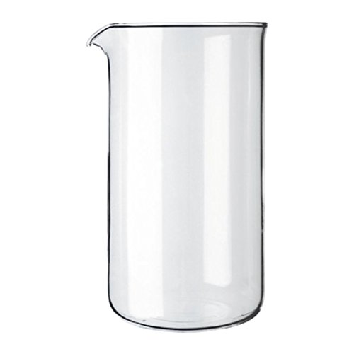 Bodum - Spare Glass Liner With Spout - Replacement Part Suitable for French Press Cafetiere - 8 - Spare Glasses Parts