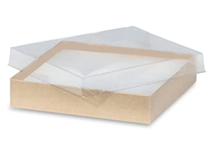 Amazon pack of 100 55 x 35 x 1 clear lid boxes wkraft pack of 100 55 x 35 x 1quot clear lid boxes wkraft m4hsunfo