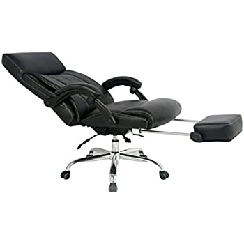 VIVA OFFICE High Back Bonded Leather Recliner Office Chair with FootrestAmazon com  VIVA OFFICE Reclining Office Chair  High Back Bonded   of Office Chair Recline