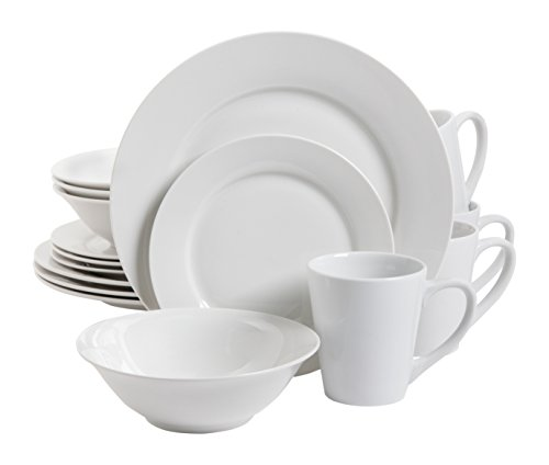 Gibson Home 102563.16RM Nobel Court 16 Piece Dinnerware Set,