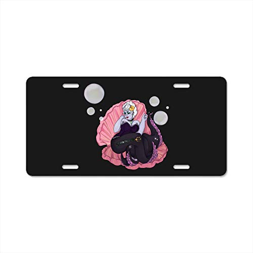 (Chik yx Personalized License Plate Pin-up Ursula Metal Auto Tag Car Tag 4 Holes 12 X 6 Inches)