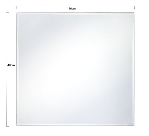 SUPERGOODIES PROFESSIONAL BEVELLED SQUARE GLASS MIRROR PLATES 5mm WEDDING...