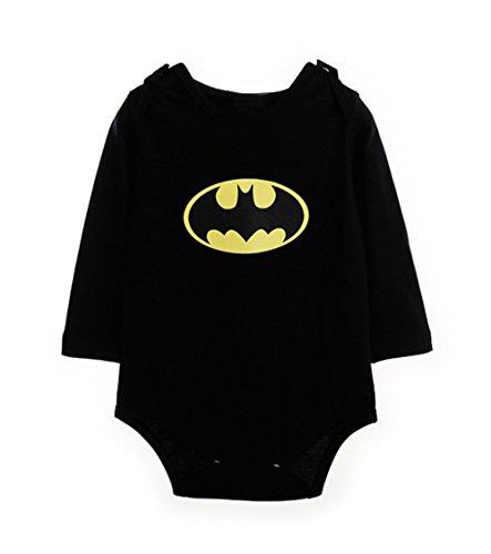 [StylesILove Batman Toddler Boy Costume Jumpsuit (6-12 Months, Black)] (Batman Costumes Infant)