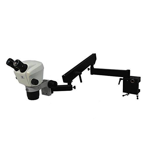 BoliOptics 7X-45X Binocular Zoom Stereo Microscope + Professional Articulating Flexible Arm Metal Stand 10X Adjustable High Eyepoint Eyepiece 76mm Focus Rack (76 Mm Focus Rack)