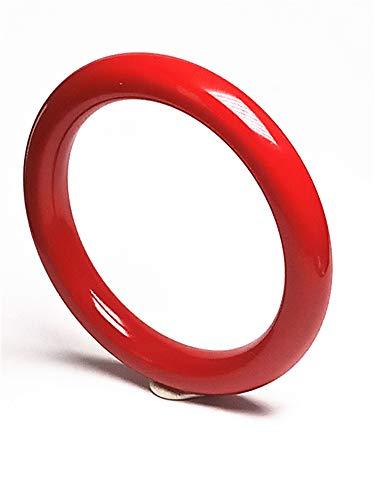 yigedan Natural Aka Coral Red Bracelet Gemstone Women Bangle