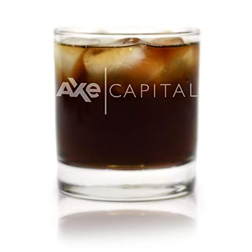 Logo Etched Collectible Glass - Movies On Glass - Premium Etched AXE Capital (BILLIONS) Engraved Logo Whiskey Glass 11 Ounces