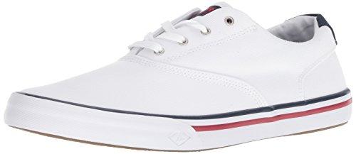 Sperry Top-Sider Men's Striper II CVO Nautical Sneaker, White, 10 M US